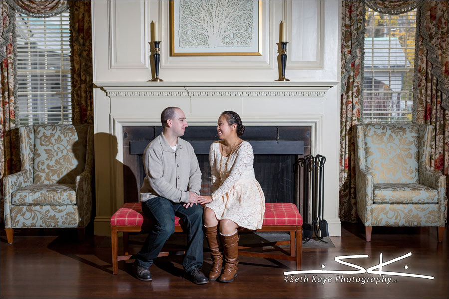 Amherst Engagement Session Lord Jeffery Inn