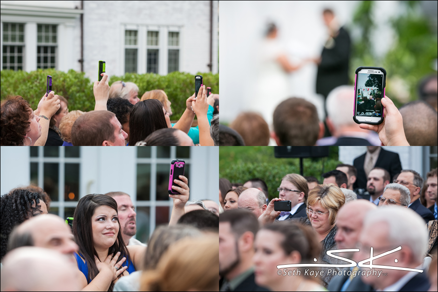 cell phones at weddings