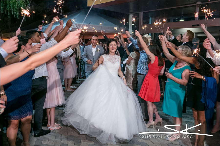 Boston wedding sparklers
