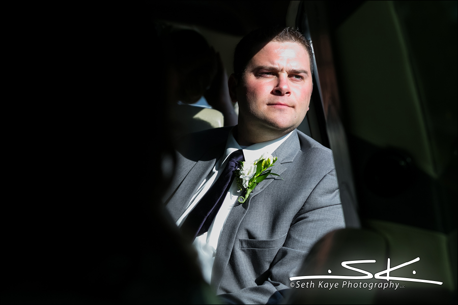 groom in the limo