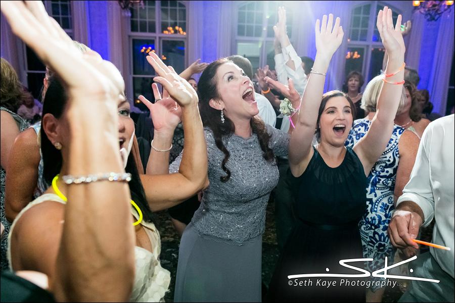 energetic wedding reception
