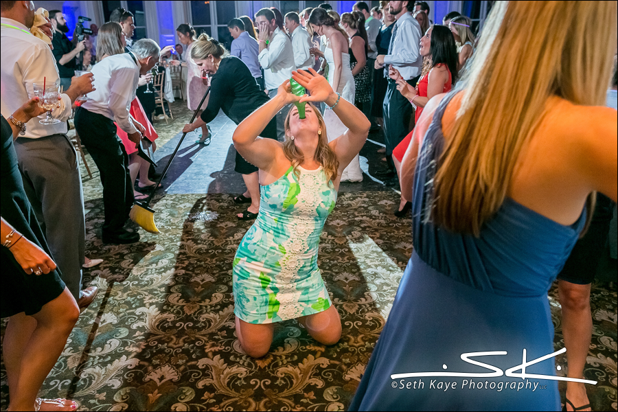 energetic wedding reception