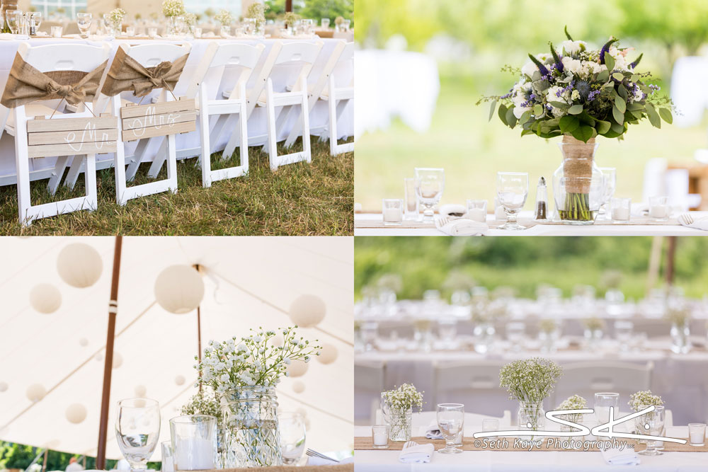 tented wedding details