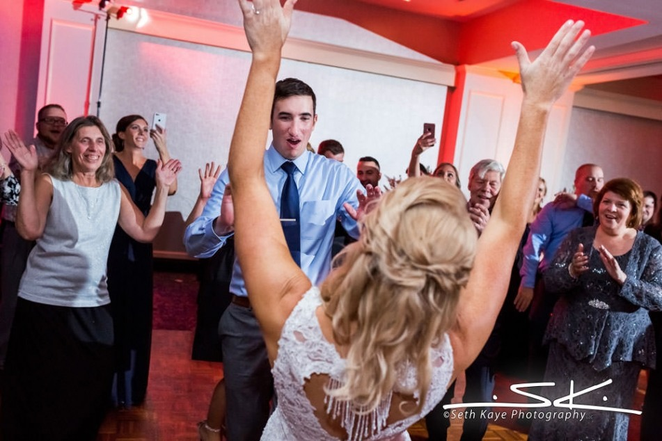 bride and groom dancing at their reception