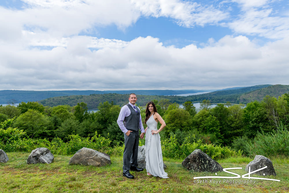 Quabbin Reservoir Wedding Portrait