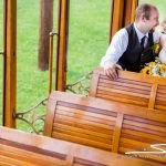CT Trolley Museum Wedding portrait