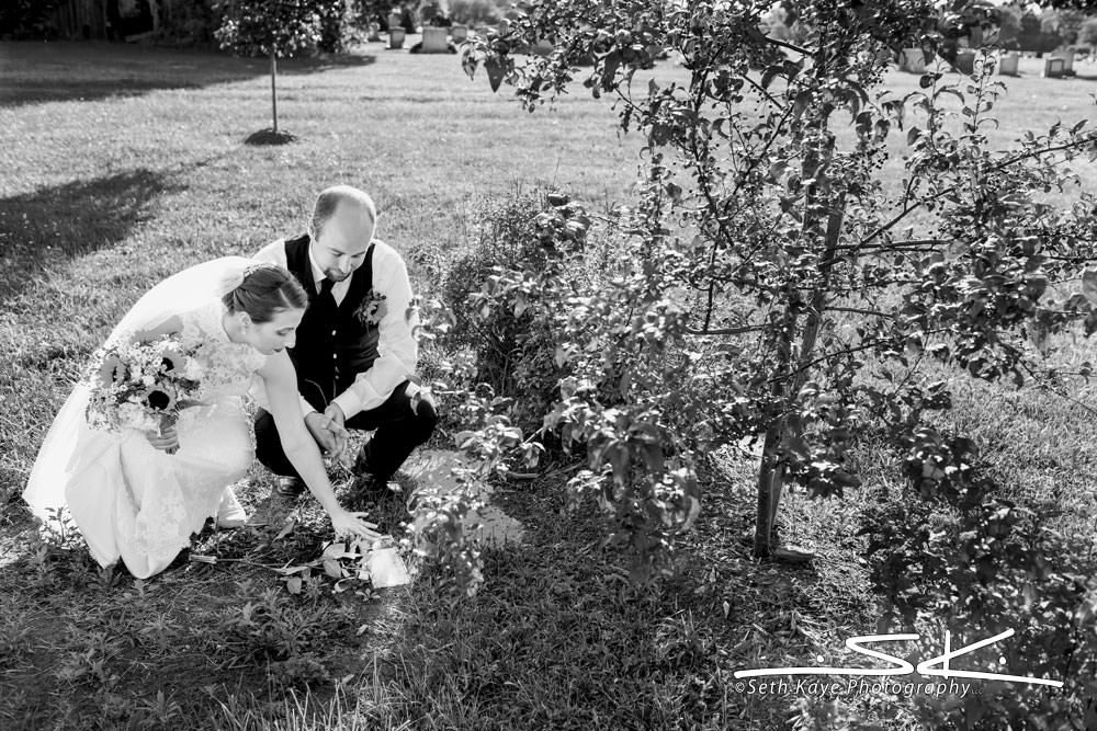 graveside wedding memorial