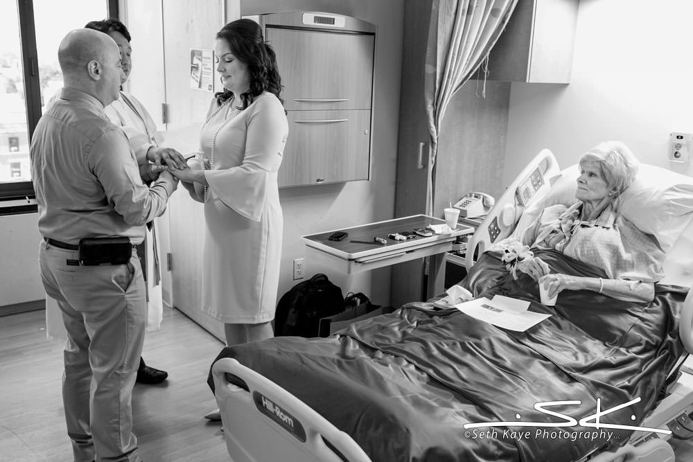wedding in a hospital