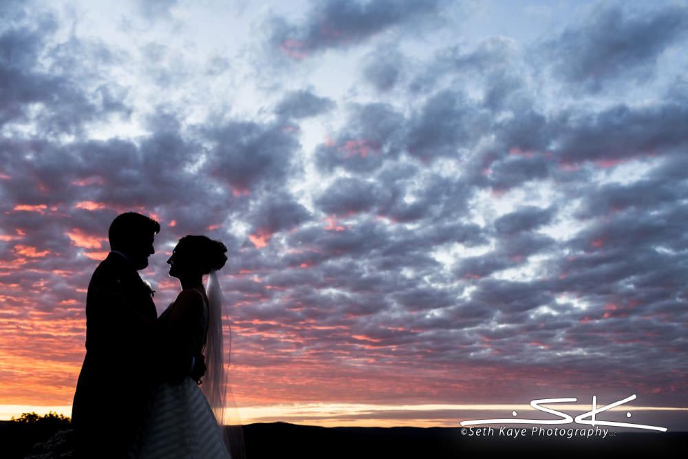 Log Cabin Sunset Wedding