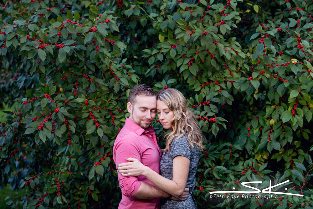 An engagement session at Smith College