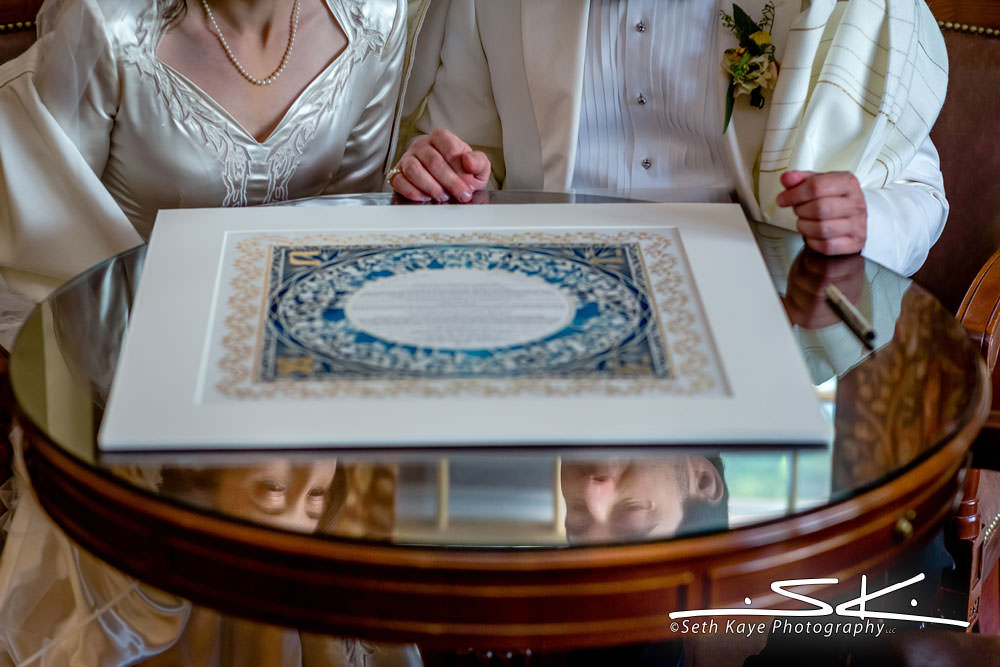 Inn on Boltwood Ketubah Signing