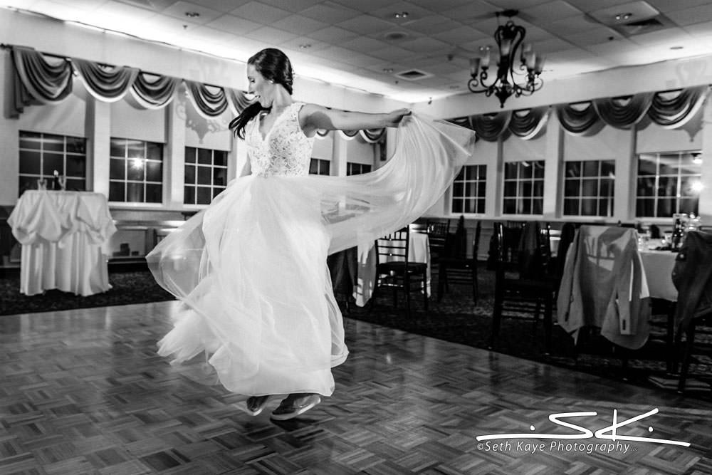 Log Cabin Bride Dancing