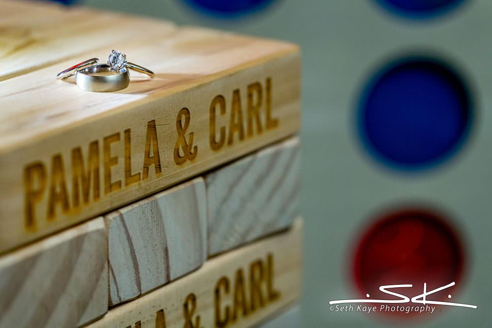 Log Cabin Wedding Rings