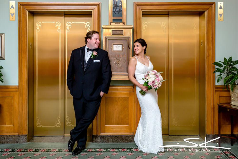 Hotel Northampton Wedding Portrait