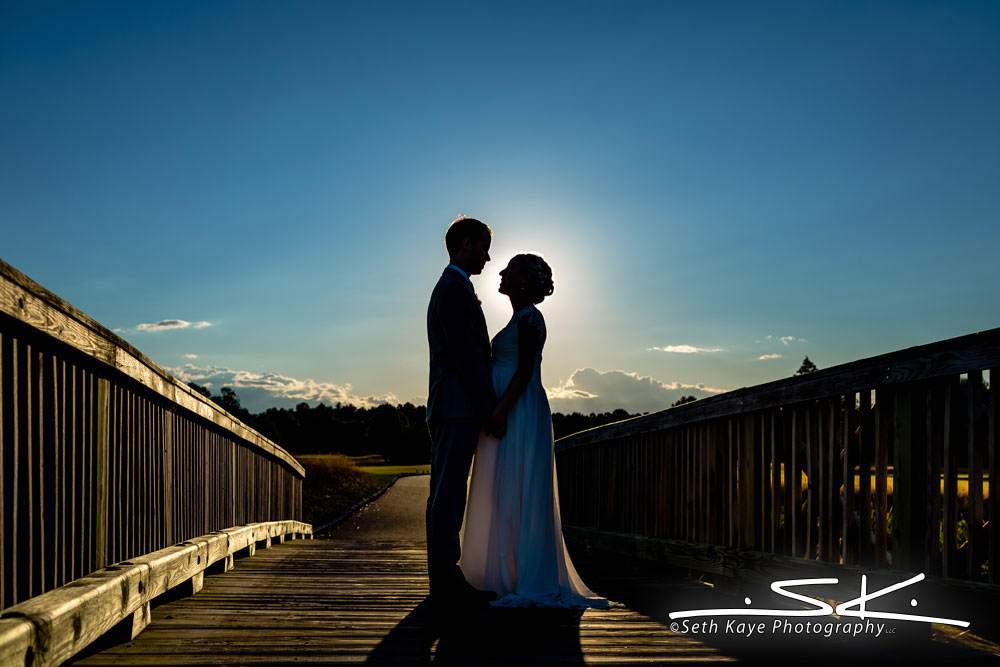 Starting Gate sunset wedding