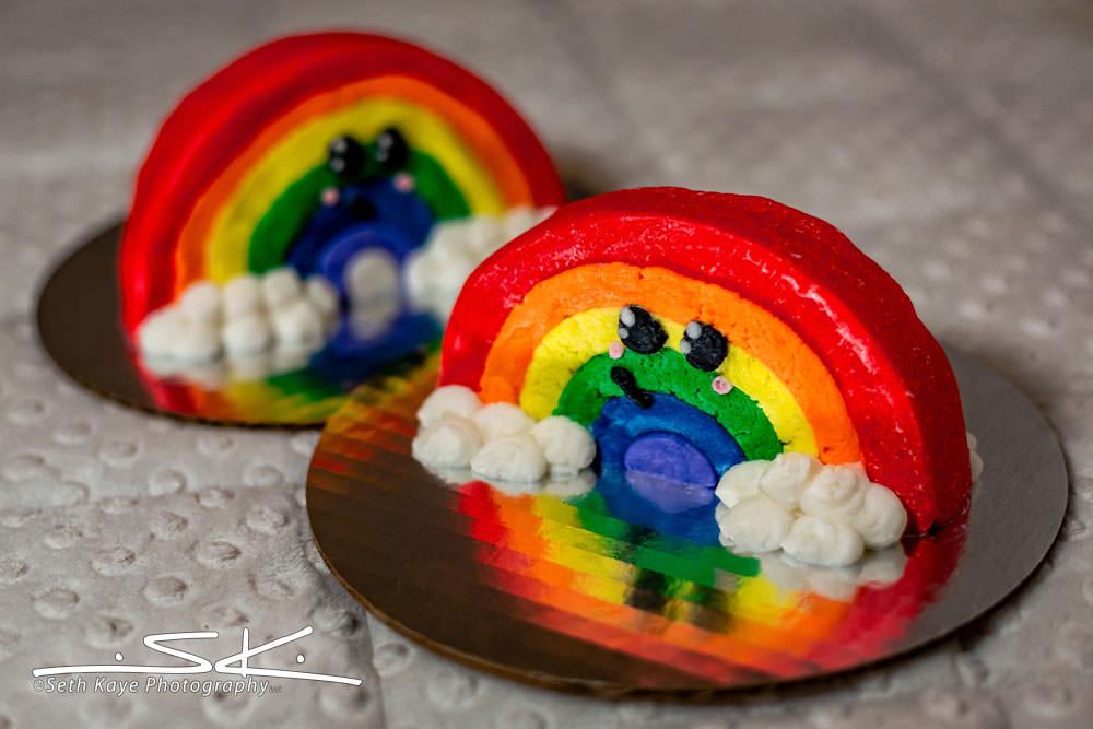 rainbow wedding cakes