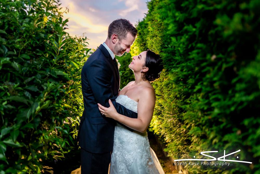 Log Cabin Wedding Portrait