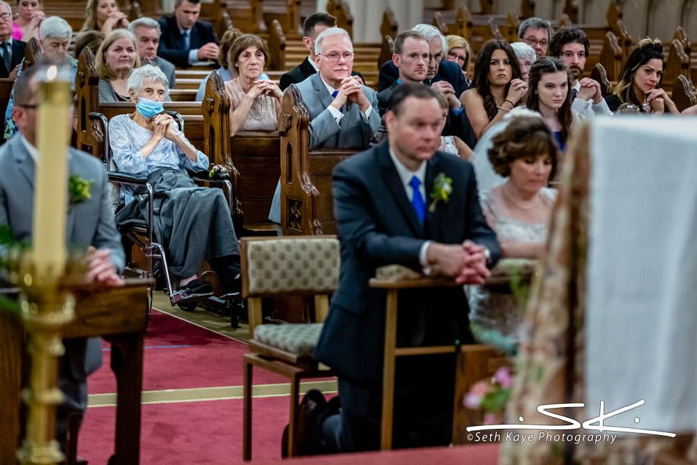 church wedding guests